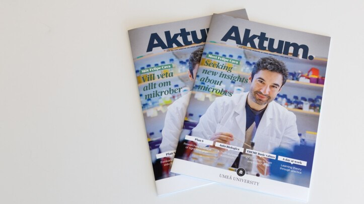 Cover of staff magazine Aktum no. 1 2019.